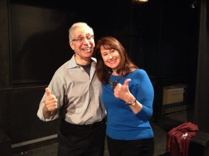 John N. Frank and Carolyn Calzavara preparing for the first performance of the Improv Wing