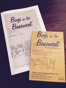 It's opening night for Boys in the Basement. See you at the show!