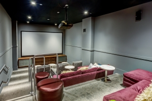 A private theater space residents can use.