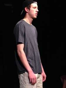 Ayden Lopez rehearses for opening night