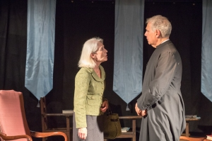 "2nd act cofounder John N. frank, right, in ""The Institute,"" performed by the 2nd Act Players last November."