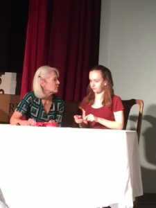 "Julia Mitre plays Faye and Hannah Goodman plays her granddaughter Julia in ""Moving Boxes"" Nov. 4-19"